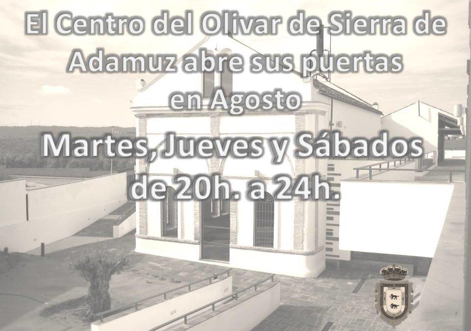 APERTURA CENTRO DEL OLIVAR DE SIERRA DE ADAMUZ MES DE AGOSTO 2014 1
