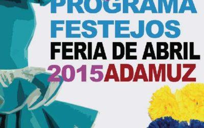 PROGRAMA FESTEJOS FERIA DE ABRIL ADAMUZ 2015