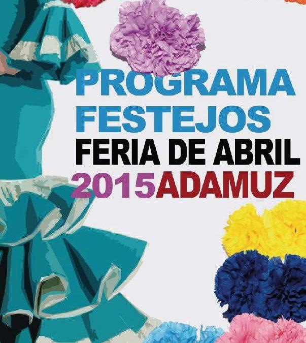 PROGRAMA FESTEJOS FERIA DE ABRIL ADAMUZ 2015 1