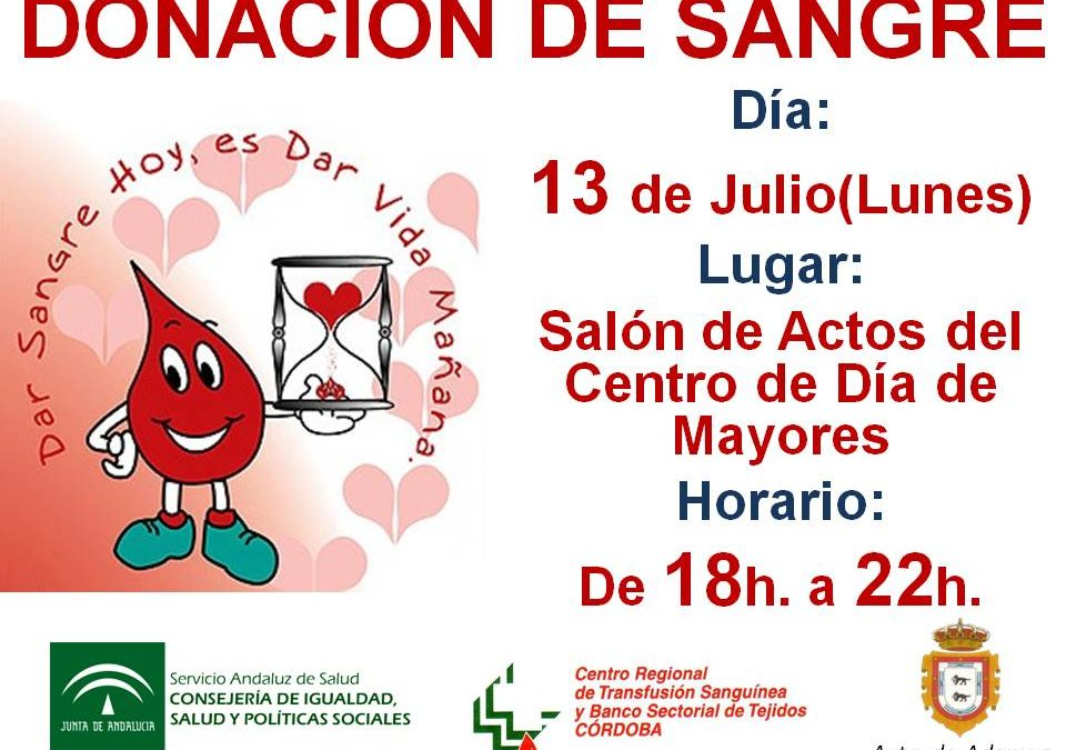 DONACIÓN DE SANGRE EN ADAMUZ (13 DE JULIO DE 2015)