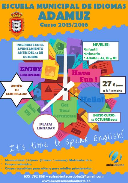 Escuela municipal de idiomas curso 2015/2016 1