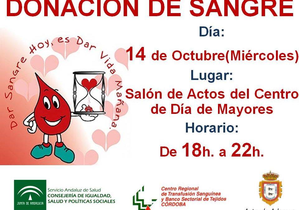 DONACIÓN DE SANGRE EN ADAMUZ (14 DE OCTUBRE DE 2015)