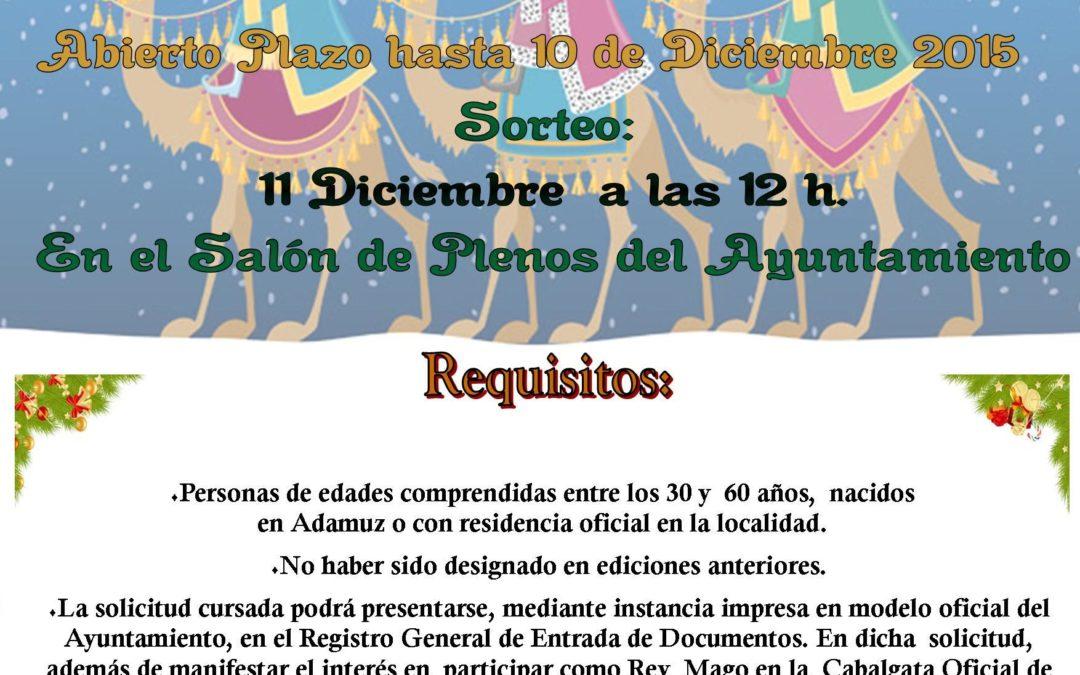 CONVOCATORIA PARA LA ELECCIÓN DE REYES MAGOS 2016 ADAMUZ