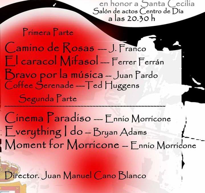 CONCIERTO EXTRAORDINARIO EN HONOR A SANTA CECILIA. BANDA SINFÓNICA MUNICIPAL DE ADAMUZ 1