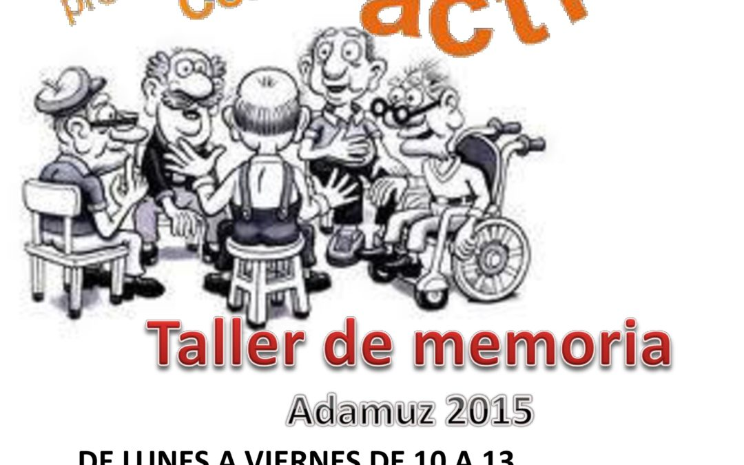 TALLER DE MEMORIA. ¡ PLAZAS DISPONIBLES ! 1