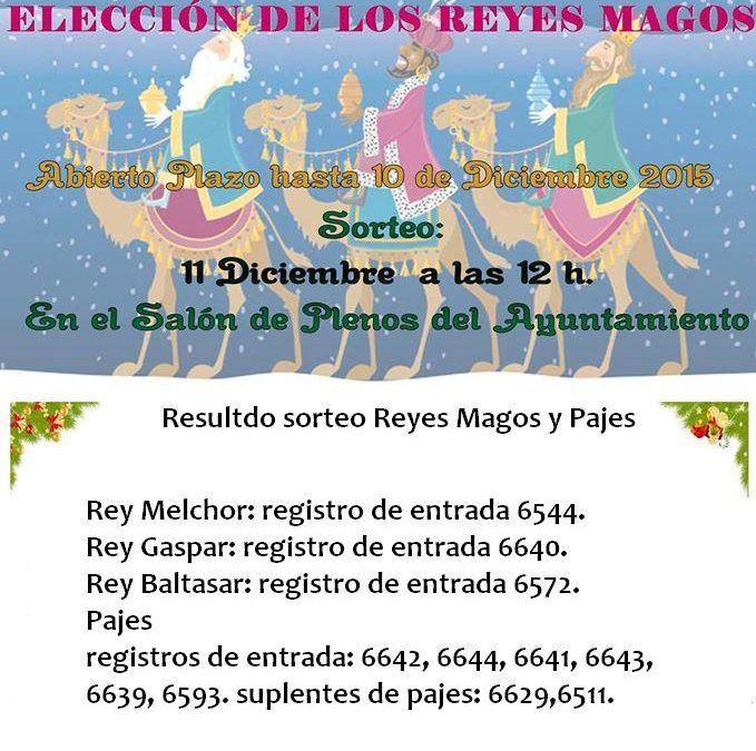Hoy se ha realizado el sorteo de los Reyes Magos y Pajes en el Excmo. Ayuntamiento de Adamuz. Dejamos aquí relación de premiados con el número de solicitud por registro de entrada. #sienteAdamuz
