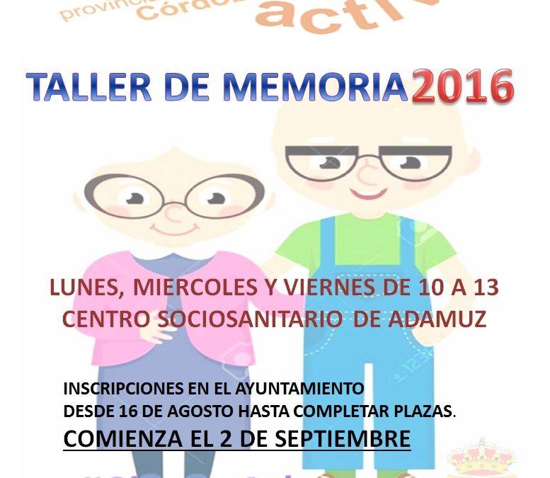 TALLER DE ENVEGECIMIENTO ACTIVO 2016 1
