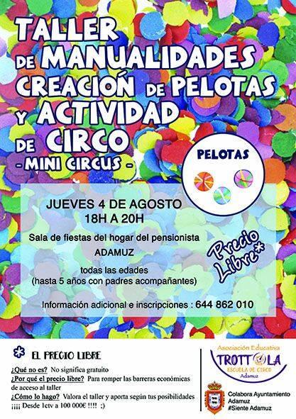 TALLER DE CREACIÓN DE PELOTAS Y ACTIVIDADES DE CIRCO 1
