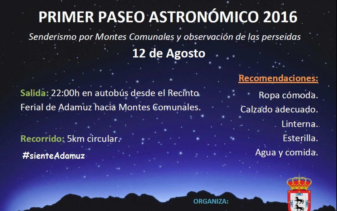 PRIMER PASEO ASTRONÓMICO 2016 1