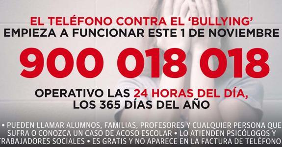 TELÉFONO CONTRA EL ACOSO ESCOSAR 1