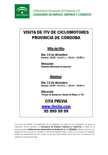 VISITA DE LA ITV DE CICLOMOTORES. 1