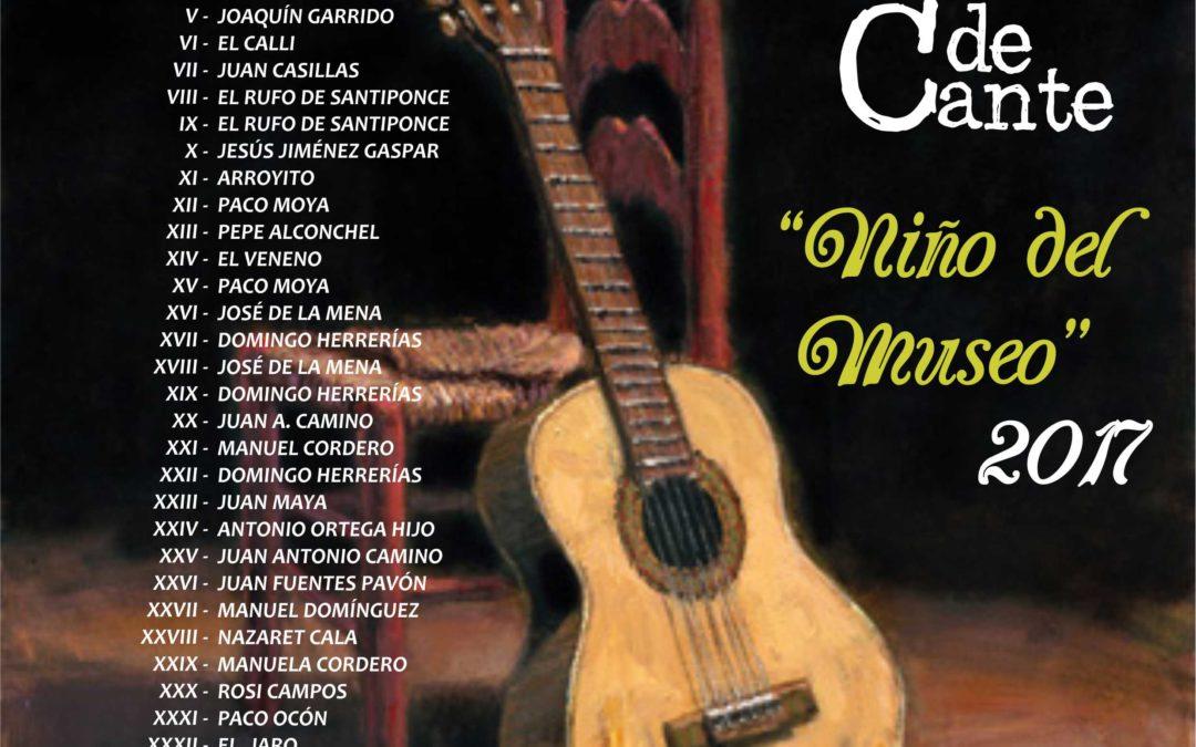 "XXXIII CONCURSO DE CANTE ""NIÑO DEL MUSEO""2017 1"