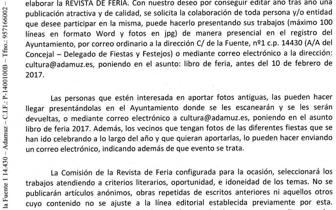 REVISTA DE FERIA 2017