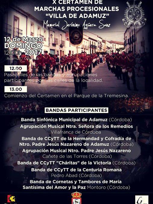 """X CERTAMEN DE MARCHAS PROCESIONALES """"VILLA DE ADAMUZ"""" 1"""