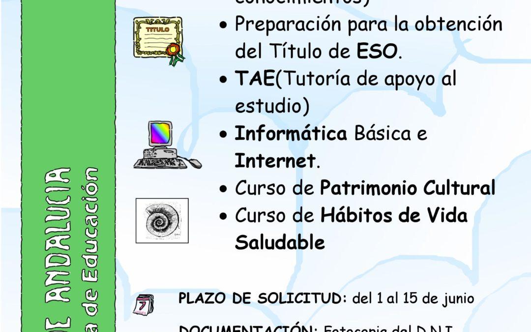 SECCIÓN DE EDUCACIÓN PERMANENTE ADAMUZ - ALGALLARÍN 1