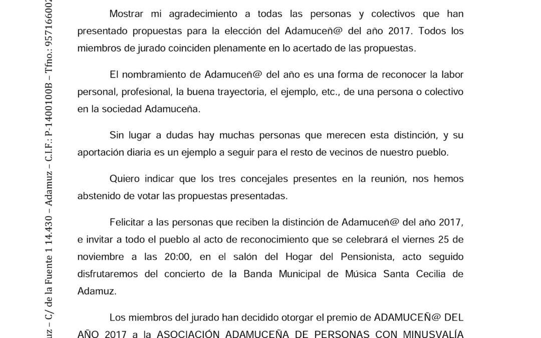 ADAMUCEÑO DEL AÑO 2017 1