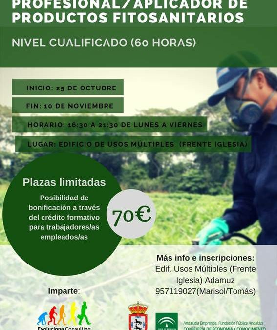 CURSO DE APLICADOR DE PRODUCTOS FITOSANITARIOS. 1