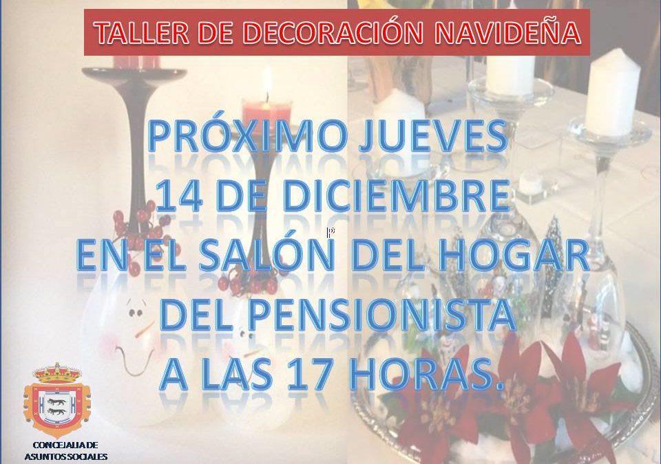 TALLER DE DECORACIÓN NAVIDEÑA.  1
