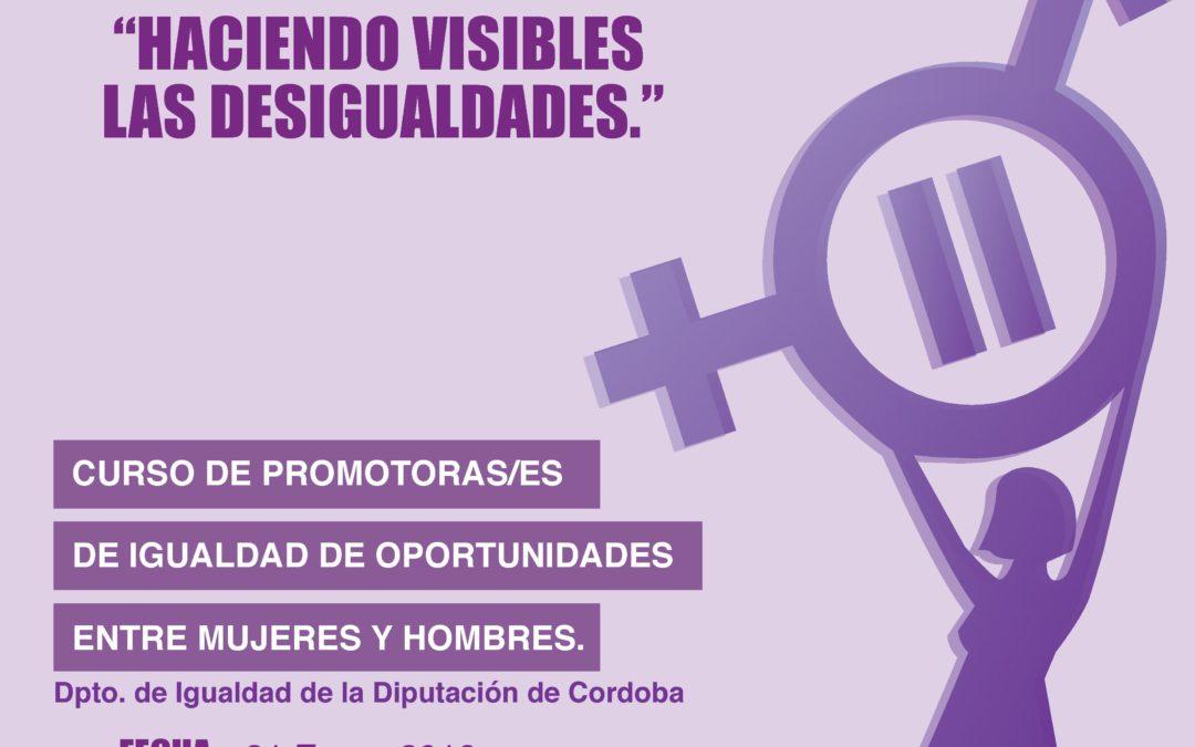 Curso de Promotoras de de igualdad de Oportunidades entre Mujeres y Hombres.  1