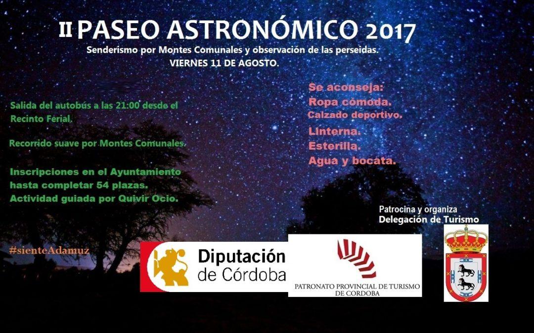 II PASEO ASTRONÓMICO 2017 1