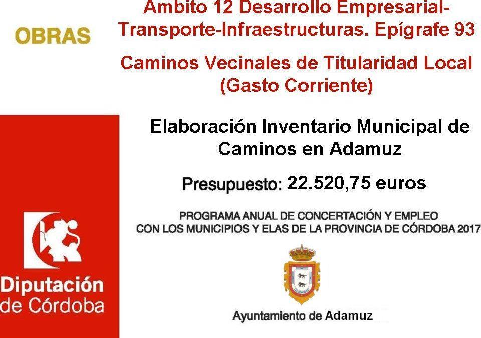 Elaboración Inventario Municipal de Caminos en Adamuz  1