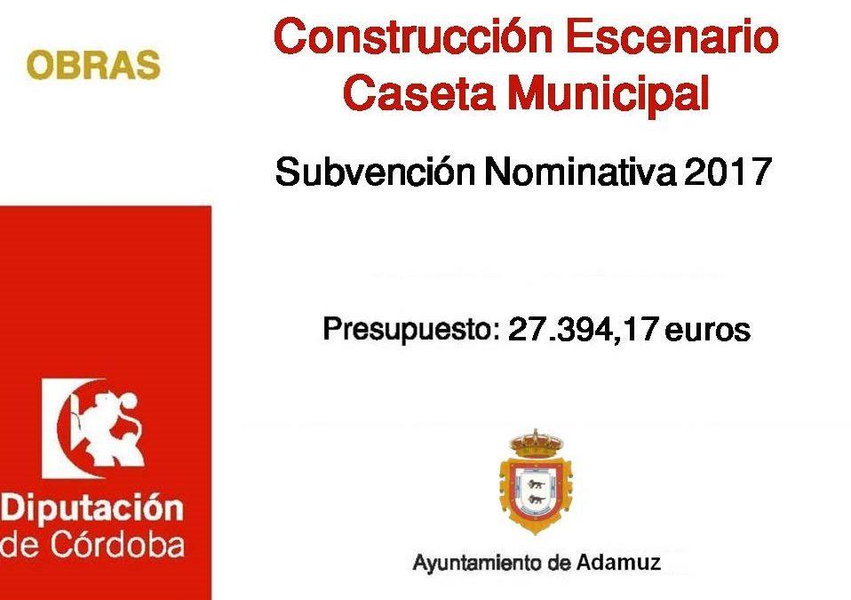 PROYECTO CONSTRUCCIÓN ESCENARIO CASETA MUNICIPAL 1