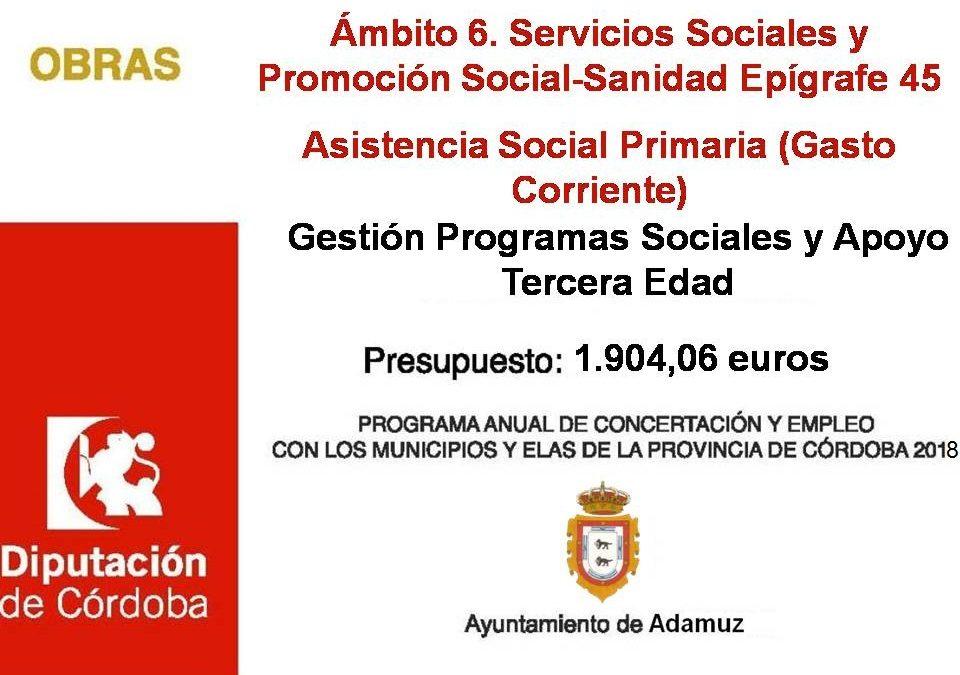 Gestión programas sociales y tercera edad 2018 1