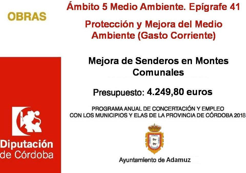 Mejora de Senderos en Montes Comunales 2018 1