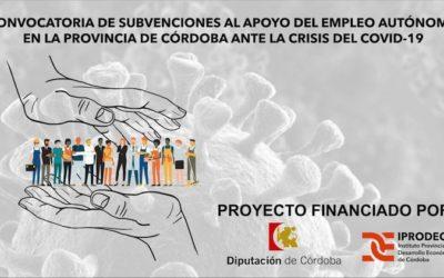 Convocatoria de subvenciones para el apoyo de empleo autónomo en la provincia de Córdoba ante la crisis del Covid-19
