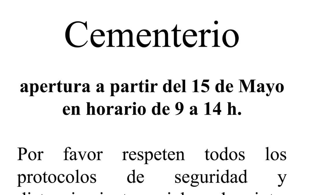 Apertura del Cementerio