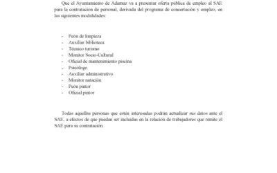 OFERTA PÚBLICA DE EMPLEO